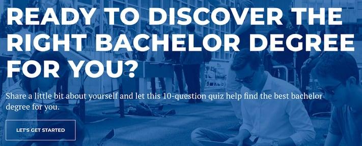 bachelor degree quiz for higher education