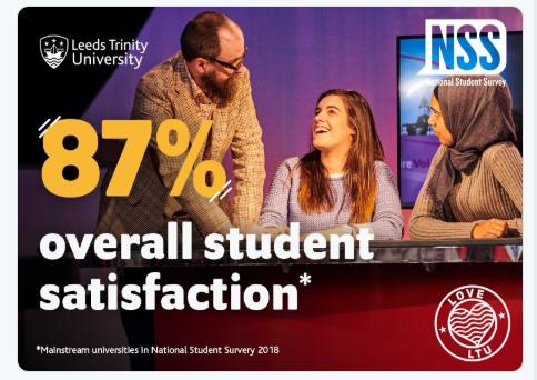 Leeds Trinity student satisfaction