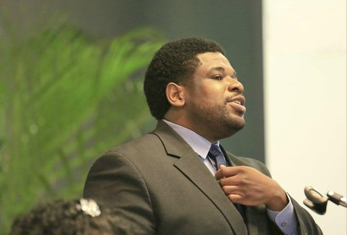 Dr Matthew Lynch speaking at an event