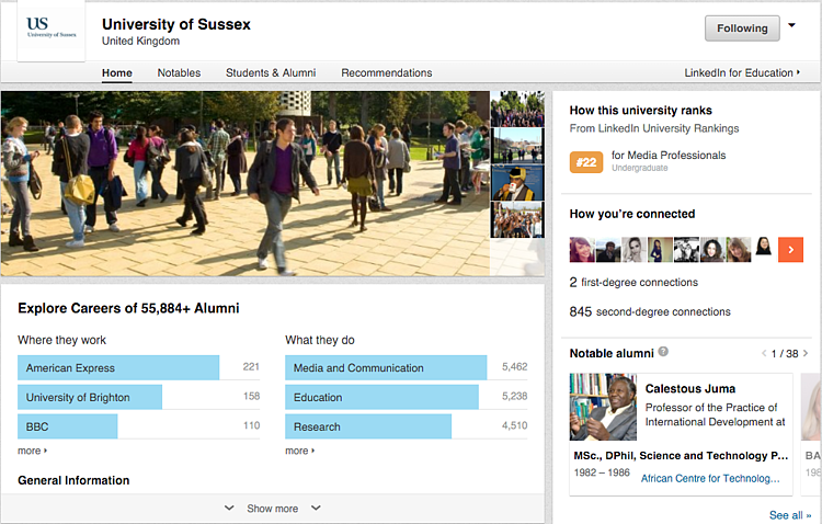 University of Sussex on LinkedIn