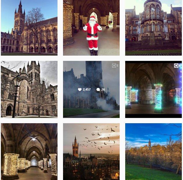 University of Glasgow Instagram feed