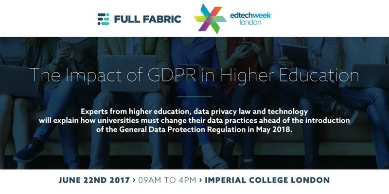 The impact of GDPR in higher education