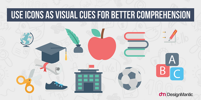 How to use icons as visual cues