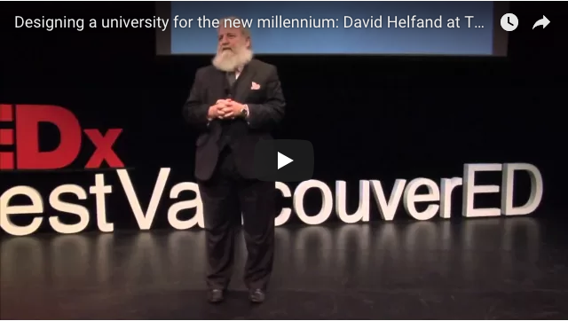 'A lifetime of learning': David Helfand's university for the new millennium