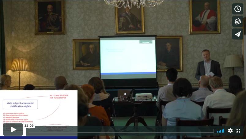Individuals' rights under the GDPR - a Talk by Gerrit-Jan Zwenne