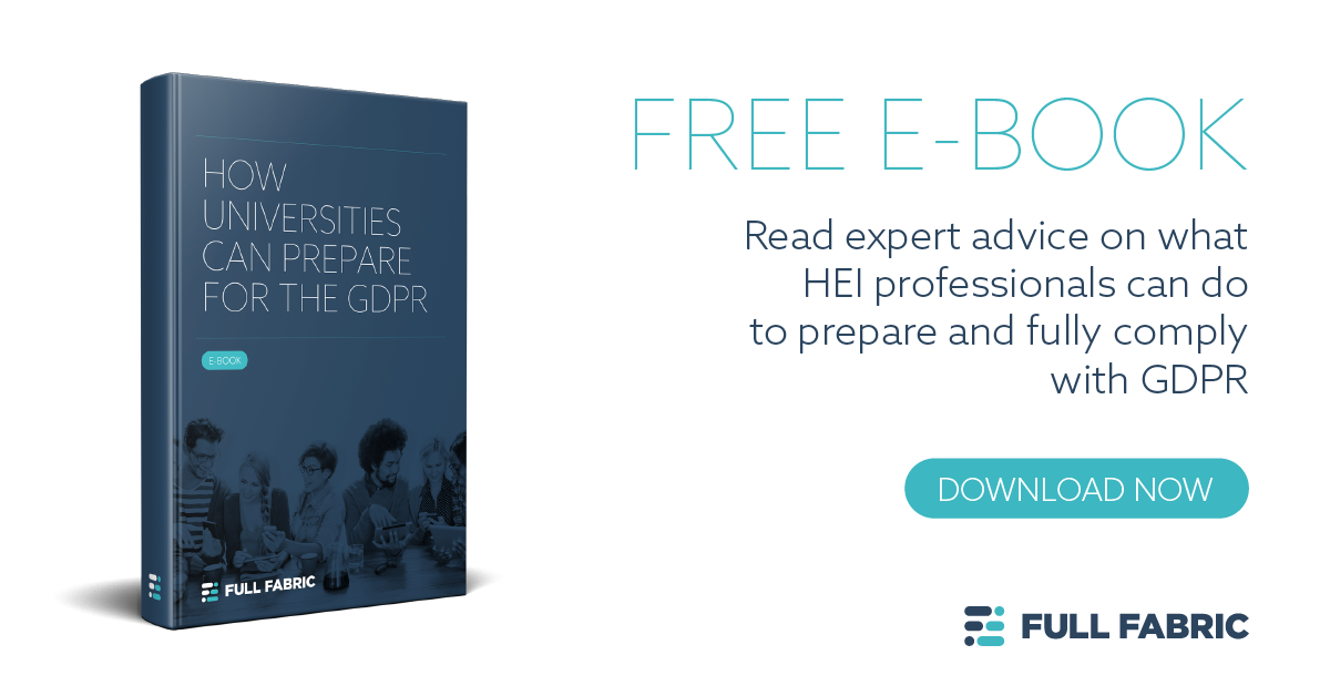 GDPR: How can universities best prepare? Download our FREE e-book