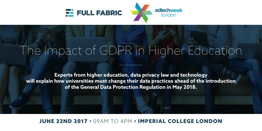 The impact of GDPR in Higher Education - a Talk by Ardi Kolah