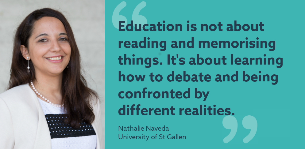 My job in higher ed: Nathalie Naveda, University of St Gallen
