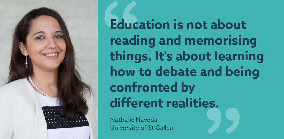 My job in higher ed: Nathalie Naveda, University of St Gallen
